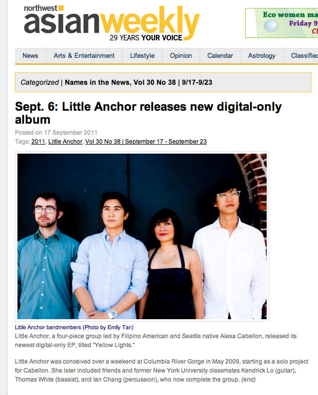 Little Anchor in NW Asian Weekly